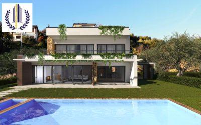 Costermano frazione Marciaga, villa vista lago con piscina