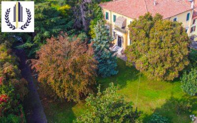 Sommacampagna, villa in stile Liberty con grande giardino